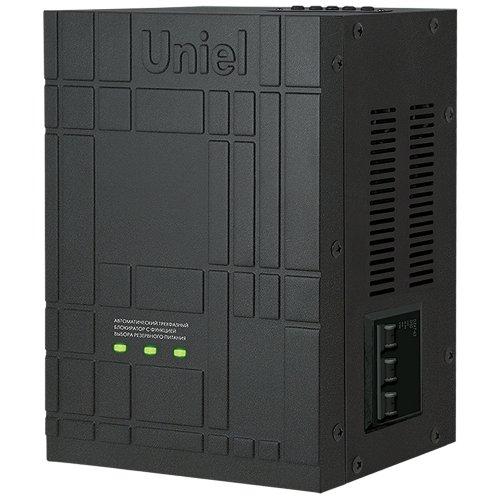 UBR-55BA-3G36-SLS Автоматический трехфазный блокиратор с функцией АВР Uniel. ток 55А. заземление. мощность 36КВт