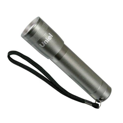 S-LD015-C Silver Фонарь Uniel серии Стандарт In Focus 1 max . алюминиевый корпус. 1 Watt Led. упаковка кламшелл. 3хААА н-к. цвет серебро