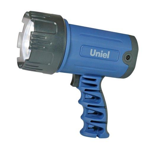 S-SL010-BA Blue Фонарь Uniel серии Стандарт Distance light 3 max. прорезиненный корпус. 3 Watt LED. упаковка цветной короб. 3.6V 1200mA Ni-MH в-к. цвет синий