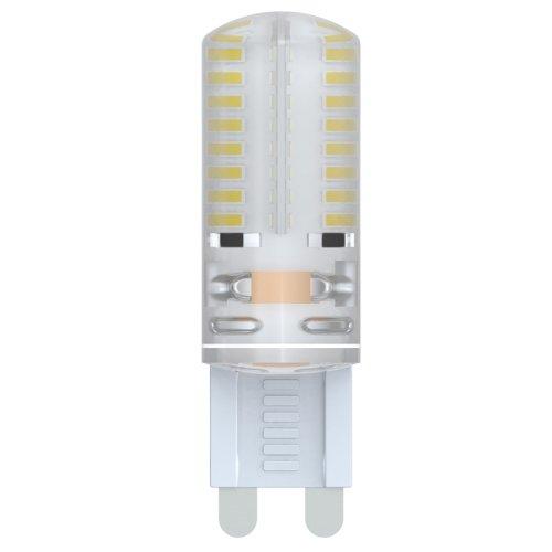 LED-JCD-2.5W-WW-G9-CL-S Лампа светодиодная JCD Volpe с силиконовым покрытием. Цвет свечения теплый белый. Серия Simple. Упаковка картон