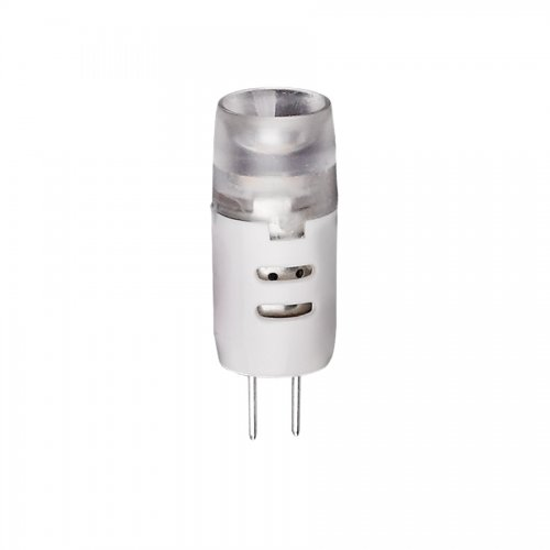LED-JC-2W-WW-G4-FR-S картон Лампа светодиодная JC Volpe 12В. Цвет свечения теплый белый. Серия Simple. Упаковка картон