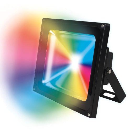 ULF-S01-50W-RGB-RC IP65 110-240В Прожектор светодиодный с пультом ДУ. Мультиколор. Корпус серый. Упаковка картон. TM Uniel.