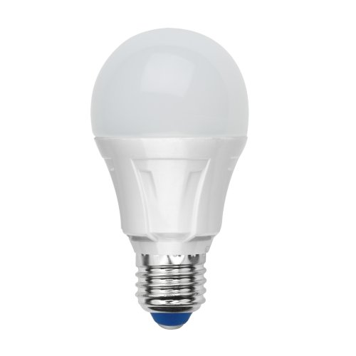 LED-A60-8W-WW-E27-FR-S Лампа светодиодная Volpe. Форма A. матовая колба. Материал корпуса термопластик. Цвет свечения теплый белый. Серия Simple. Упаковка картон