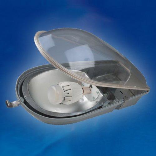 UUL-V61X IP65 GREY Светильник уличный. Выпуклый рассеиватель из поликрабоната. Цоколь E27. Напряжение 220В. Степень защиты IP65. Цвет корпуса серый. Диаметр кронштейна 48мм.