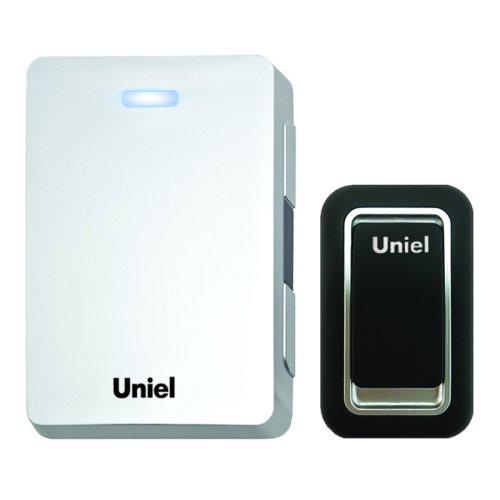 UDB-023E-R1T1-32S-WH Звонок электронный. 32 мелодии. 3 уровня громкости. Блистерная упаковка. Цвет-белый