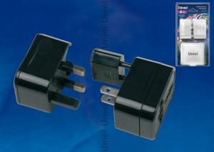 S-WA4-03B Универсальный сетевой переходник Uniel. без заземления. количество вилок 4. максимальный ток 3А. цвет черный. упаковка блистер