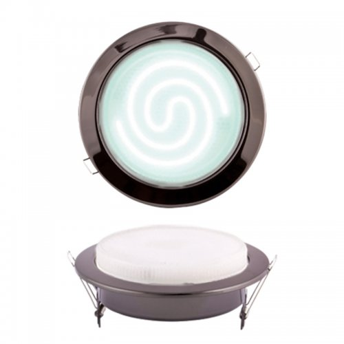 GX70-Н5 Черный хром Светильник ультратонкий встраиваемый