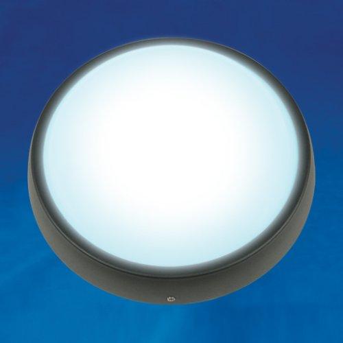 ULW-R02-7W-DW IP54 BLACK Круг. Светильник светодиодный влагозащищенный пластиковый корпус. 7Вт. 510 Лм. 5500K дневной свет. IP54. 220В. Цвет корпуса черный. Упаковка коробка