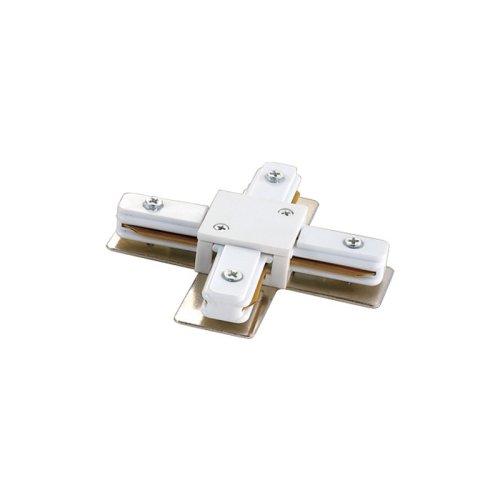 UBX-Q121 K41 WHITE 1 POLYBAG Соединитель для шинопроводов Х-образный. Цвет белый. Упаковка полиэтиленовый пакет.