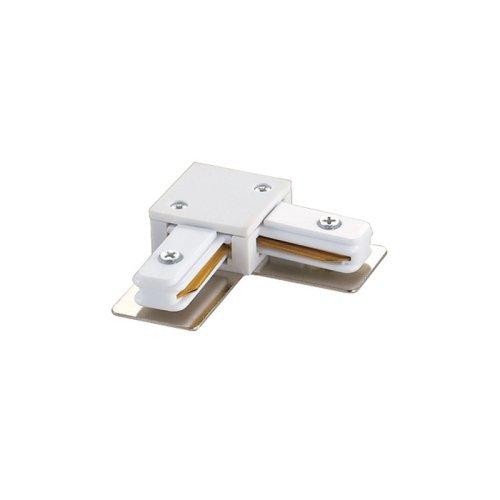 UBX-Q121 K21 WHITE 1 POLYBAG Соединитель для шинопроводов L-образный. Однофазный. Цвет белый. Упаковка полиэтиленовый пакет.