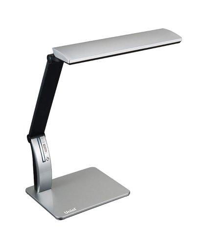 TLD-503 Silver-Светильник настольный LED-546Lm-5000K-USB порт-С димером-Цвет-серебристый