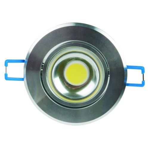 ULM-R31-5W-WW IP20 Silver картон Светильник светодиодный встраиваемый поворотный. 110-240В. Материал корпуса алюминий. цвет блестящее серебро. Теплый белый свет.