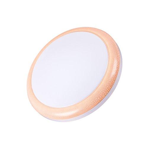 Светодиодный светильник накладной ULI-Q101 18W-NW WHITE-PINK. ТМ VOLPE.1400Lm. IP20. Круглый. Диаметр 300мм. Материал рассеивателя пластик. Цвет корпуса белый с розовой вставкой по окружности