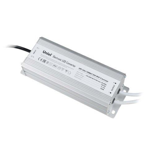 UET-VAJ-100B67 Блок питания для светодиодов с защитой от короткого замыкания и перегрузок. алюминиевый корпус. 100Вт. 24В. IP67. 2 выходных канала
