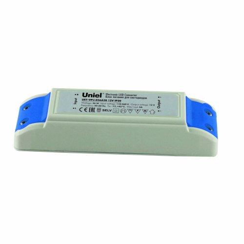 UET-VPJ-036A20 Блок питания для светодиодов с защитой от короткого замыкания и перегрузок. 36 Вт. 12В. IP20