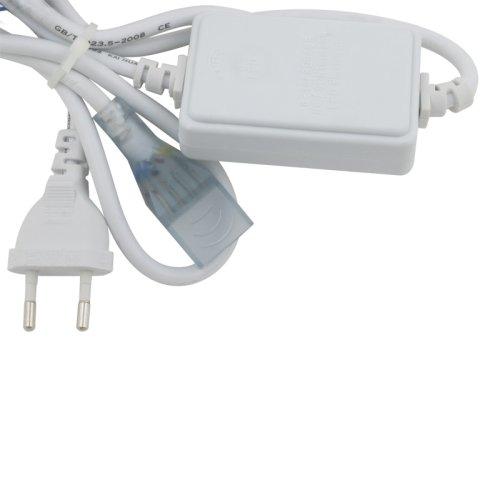 UCX-Q220 SP4-B67-RGB WHITE 1 STICKER Провод электрический для подключения RBG светодиодных лент ULS-5050 сетевого напряжения к сети 220В. 7х14мм.