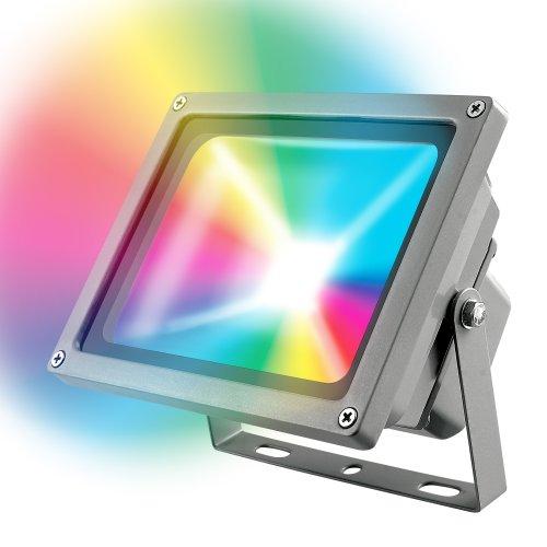 ULF-S01-10W-RGB-RC IP65 110-240В Прожектор светодиодный с пультом ДУ. Мультиколор. Корпус серый. Упаковка картон. TM Uniel.