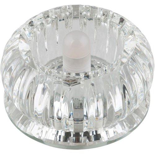 DLS-F106 G9 GLASSY-CLEAR Светильник декоративный встраиваемый ТМ Fametto. серия Fiore. Без лампы. цоколь G9. Основание стекло. цвет зеркальный. Отделка кристалл. цвет прозрачный.