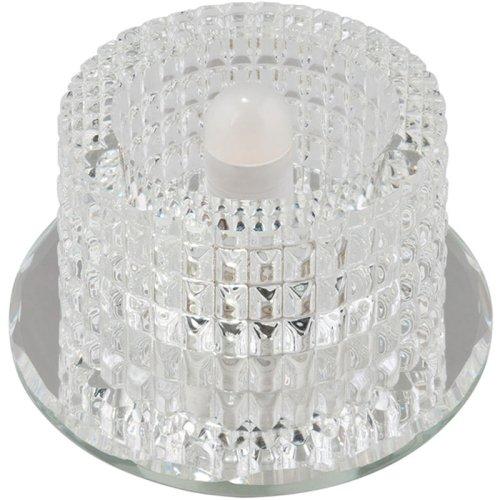 DLS-F110 G9 GLASSY-CLEAR Светильник декоративный встраиваемый ТМ Fametto. серия Fiore. Без лампы. цоколь G9. Основание стекло. цвет зеркальный. Отделка кристалл. цвет прозрачный.