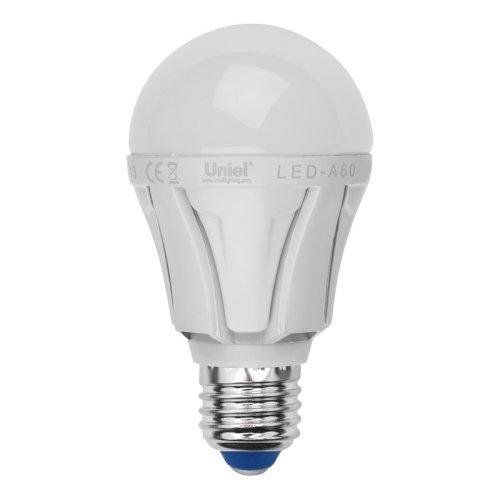 LED-A60-9W-WW-E27-FR ALP01WH Лампа светодиодная. Форма A. матовая колба. Материал корпуса алюминий. Цвет свечения теплый белый. Серия Palazzo. Упаковка пластик