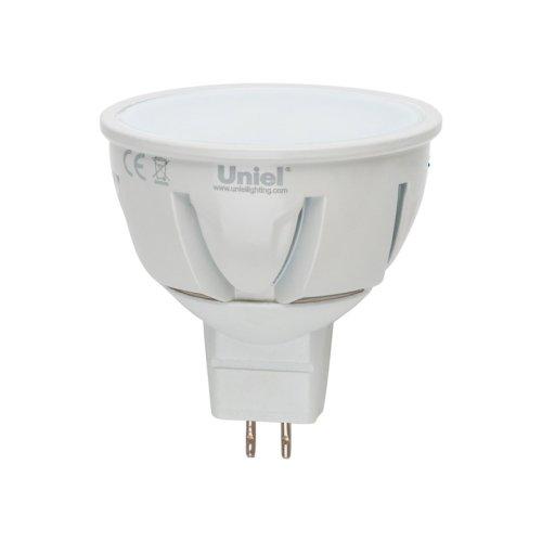 LED-JCDR-5W-WW-GU5.3-FR ALP01WH Лампа светодиодная. Материал корпуса алюминий. Цвет свечения теплый белый. Серия Palazzo. Упаковка пластик