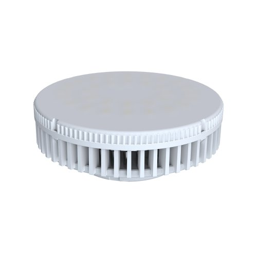 LED-GX53-6W-WW-GX53-FR-S Лампа светодиодная GX53 Volpe. Матовый рассеиватель. Материал корпуса термопластик. Цвет свечения теплый белый. Серия Simple. Упаковка картон