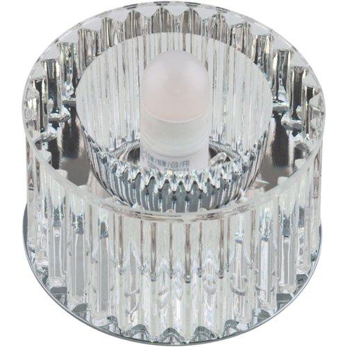 DLS-F104 G9 CHROME-CLEAR Светильник декоративный встраиваемый ТМ Fametto. серия Fiore. Без лампы. цоколь G9. Основание металл. цвет хром. Отделка кристалл. цвет прозрачный.