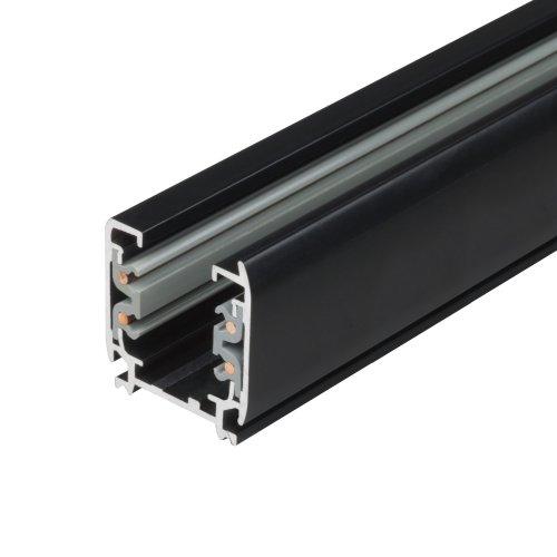 UBX-AS4 BLACK 100 POLYBAG Шинопровод осветительный. тип А. Трехфазный. Цвет черный. Длина 1 м. Упаковка полиэтиленовый пакет.