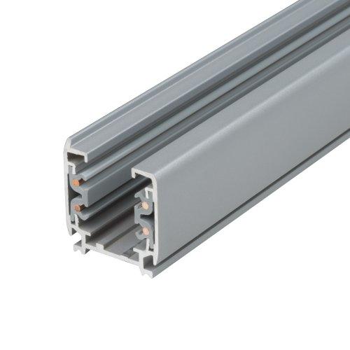 UBX-AS4 SILVER 300 POLYBAG Шинопровод осветительный. тип А. Трехфазный. Цвет серебряный. Длина 3 м. Упаковка полиэтиленовый пакет.