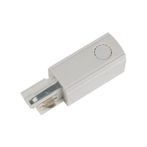UBX-A01 WHITE 1 POLYBAG Ввод питания для шинопровода. Трехфазный. Правый. Цвет белый. Упаковка полиэтиленовый пакет.