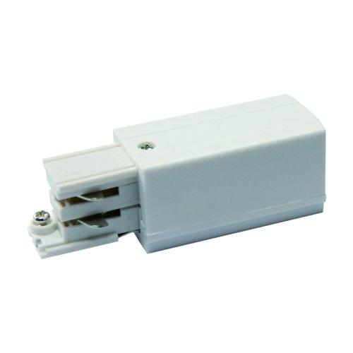 UBX-A02 WHITE 1 POLYBAG Ввод питания для шинопровода. Трехфазный. Левый. Цвет белый. Упаковка полиэтиленовый пакет.