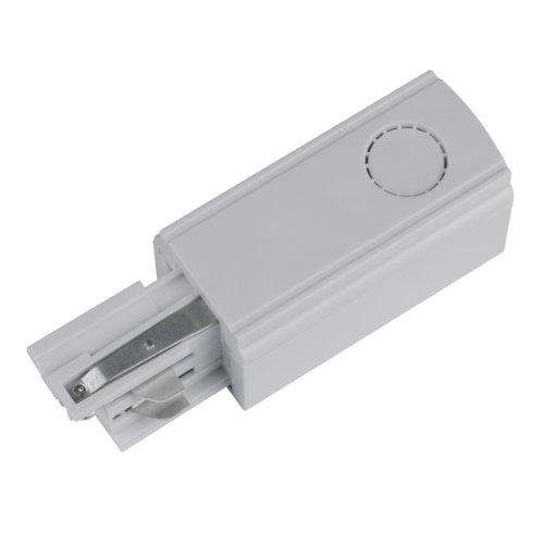 UBX-A02 SILVER 1 POLYBAG Ввод питания для шинопровода. Трехфазный. Левый. Цвет серебряный. Упаковка полиэтиленовый пакет.
