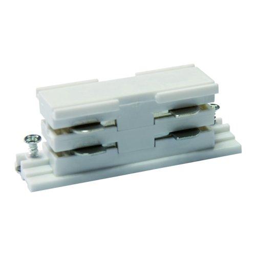 UBX-A11 WHITE 1 POLYBAG Соединитель для 2-х шинопроводов прямой внутренний. Трехфазный. Цвет белый. Упаковка полиэтиленовый пакет.