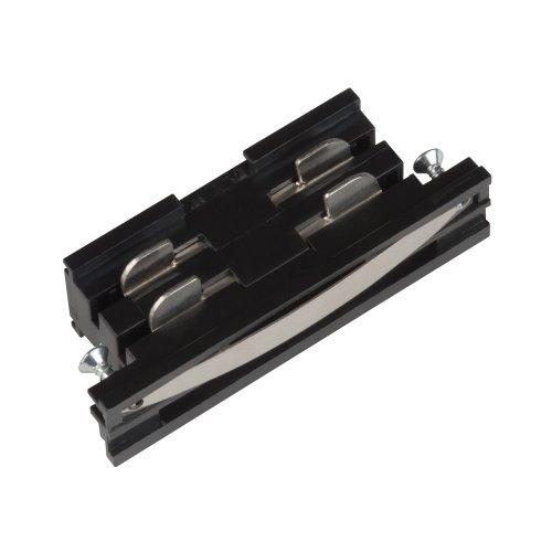 UBX-A11 BLACK 1 POLYBAG Соединитель для шинопроводов прямой внутренний. Трехфазный. Цвет черный. Упаковка полиэтиленовый пакет.