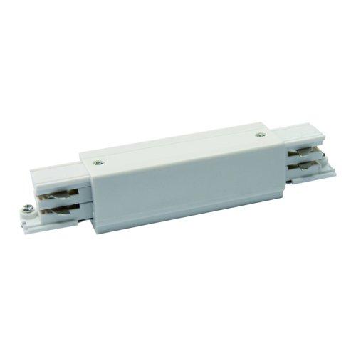 UBX-A12 WHITE 1 POLYBAG Соединитель для шинопроводов прямой внешний. Трехфазный. Цвет белый. Упаковка полиэтиленовый пакет.
