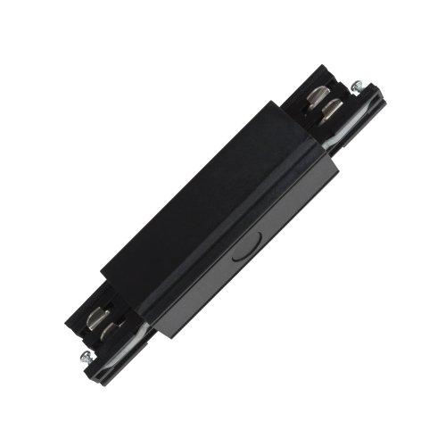 UBX-A12 BLACK 1 POLYBAG Соединитель для шинопроводов прямой внешний. Трехфазный. Цвет черный. Упаковка полиэтиленовый пакет.