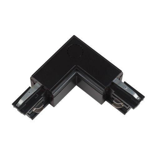 UBX-A21 BLACK 1 POLYBAG Соединитель для шинопроводов L-образный. Внешний. Трехфазный. Цвет черный. Упаковка полиэтиленовый пакет.