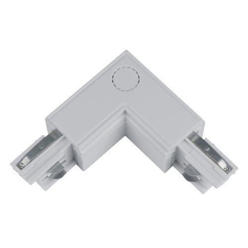 UBX-A21 SILVER 1 POLYBAG Соединитель для шинопроводов L-образный. Внешний. Трехфазный. Цвет серебряный. Упаковка полиэтиленовый пакет.
