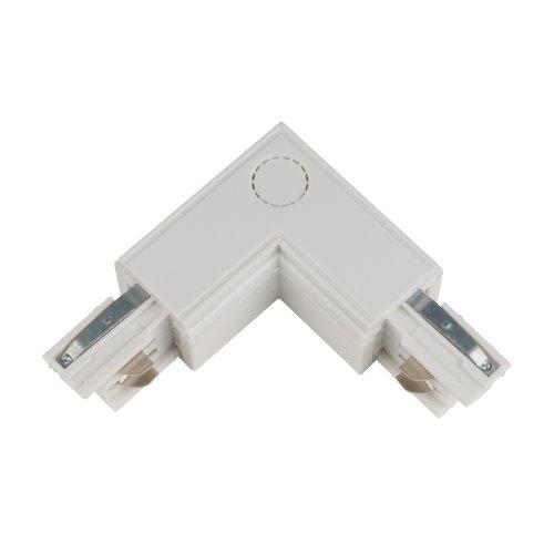 UBX-A22 WHITE 1 POLYBAG Соединитель для шинопроводов L-образный. Внутренний. Трехфазный. Цвет белый. Упаковка полиэтиленовый пакет.