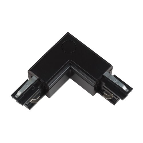 UBX-A22 BLACK 1 POLYBAG Соединитель для шинопроводов L-образный. Внутренний. Трехфазный. Цвет черный. Упаковка полиэтиленовый пакет.