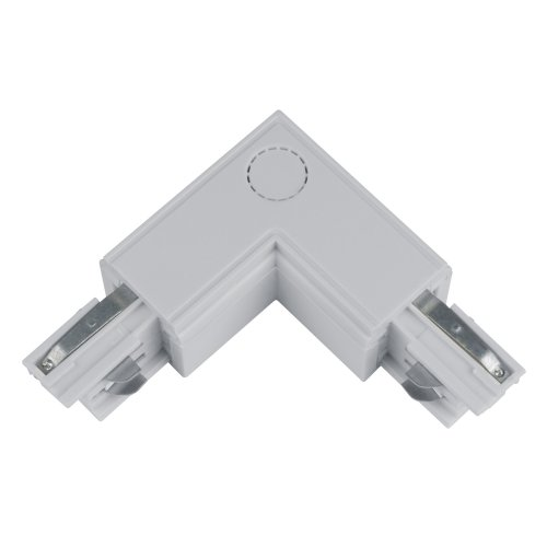 UBX-A22 SILVER 1 POLYBAG Соединитель для шинопроводов L-образный. Внутренний. Трехфазный. Цвет серебряный. Упаковка полиэтиленовый пакет.