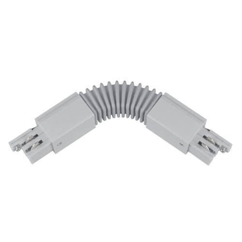 UBX-A24 SILVER 1 POLYBAG Соединитель для шинопроводов. Гибкий. Трехфазный. Цвет серебряный. Упаковка полиэтиленовый пакет.
