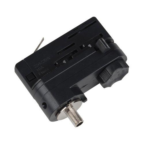 UBX-A61 BLACK 1 POLYBAG Адаптер для трехфазного шинопровода. Цвет-черный. Упаковка-полиэтиленовый пакет.