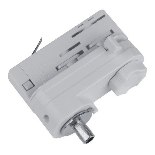 UBX-A61 SILVER 1 POLYBAG Адаптер для трехфазного шинопровода. Цвет-серебряный. Упаковка-полиэтиленовый пакет.