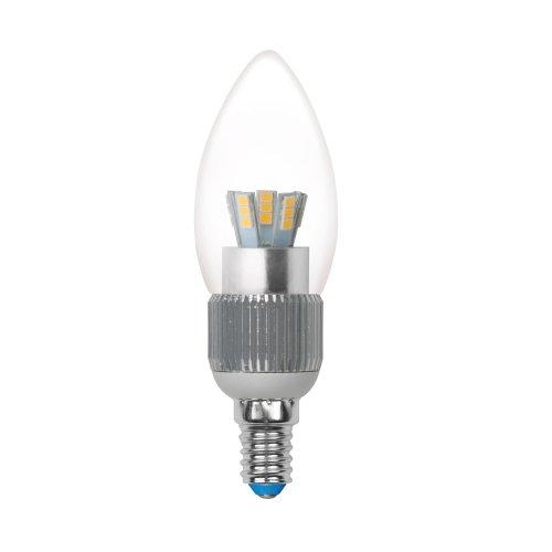 LED-C37P-5W-NW-E14-CL-DIM ALC03SL Лампа светодиодная диммируемая пятилепестковая. Форма свеча. прозрачная колба. Материал корпуса алюминий. Цвет свечения белый. Серия Crystal. Упаковка пластик