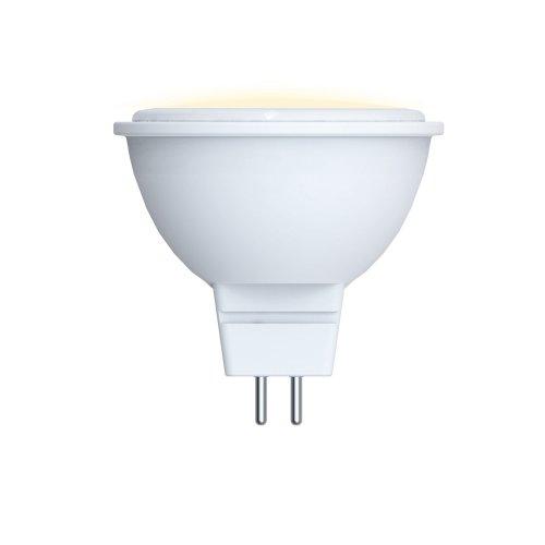 LED-JCDR-5W-WW-GU5.3-O Лампа светодиодная Volpe. Форма JCDR. матовый рассеиватель. Материал корпуса пластик. Цвет свечения теплый белый. Серия Optima. Упаковка картон