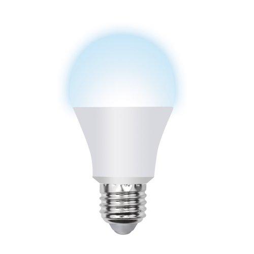 LED-A60-8W-NW-E27-FR-O Лампа светодиодная Volpe. Форма A. матовая колба. Материал корпуса пластик. Цвет свечения белый. Серия Optima. Упаковка картон
