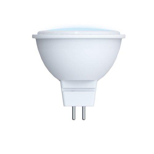 LED-JCDR-5W-NW-GU5.3-O Лампа светодиодная Volpe. Форма JCDR. матовый рассеиватель. Материал корпуса пластик. Цвет свечения белый. Серия Optima. Упаковка картон