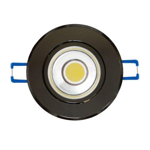 ULM-R31-3W-NW IP20 BLACK CHROME картон Светильник светодиодный встраиваемый поворотный. 110-240В. Материал корпуса алюминий. цвет черный хром. Белый свет.