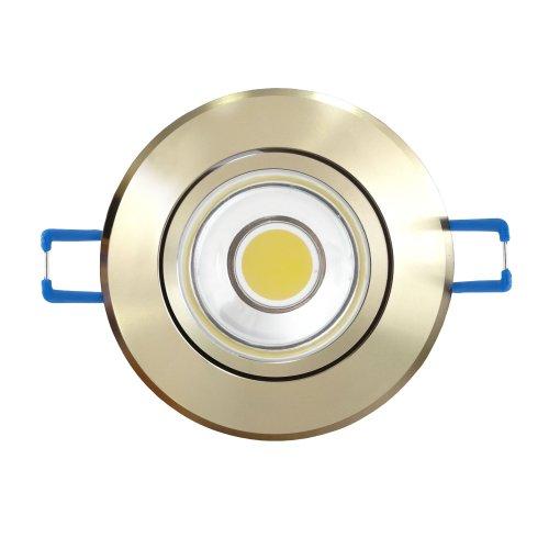 ULM-R31-3W-NW IP20 GOLD картон Светильник светодиодный встраиваемый поворотный. 110-240В. Материал корпуса алюминий. цвет золотой. Белый свет.
